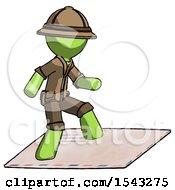 Green Explorer Ranger Man On Postage Envelope Surfing