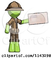 Green Explorer Ranger Man Holding Large Envelope