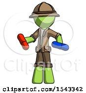 Green Explorer Ranger Man Red Pill Or Blue Pill Concept