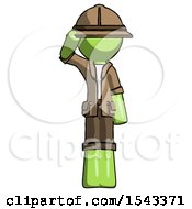Green Explorer Ranger Man Soldier Salute Pose