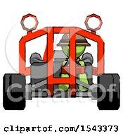 Green Explorer Ranger Man Riding Sports Buggy Front View