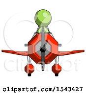 Green Design Mascot Man In Geebee Stunt Plane Front View