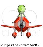 Green Design Mascot Woman In Geebee Stunt Plane Front View