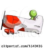 Green Design Mascot Man In Geebee Stunt Aircraft Side View