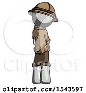 Gray Explorer Ranger Man Thinking Wondering Or Pondering Rear View