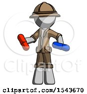 Gray Explorer Ranger Man Red Pill Or Blue Pill Concept