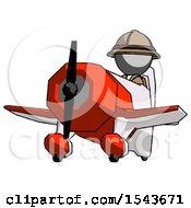 Gray Explorer Ranger Man Flying In Geebee Stunt Plane Viewed From Below