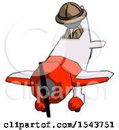 Gray Explorer Ranger Man In Geebee Stunt Plane Descending Front Angle View