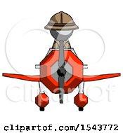 Gray Explorer Ranger Man In Geebee Stunt Plane Front View