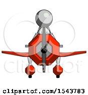 Gray Design Mascot Man In Geebee Stunt Plane Front View