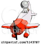 Gray Design Mascot Man In Geebee Stunt Plane Descending Front Angle View