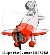 Gray Design Mascot Woman In Geebee Stunt Plane Descending Front Angle View