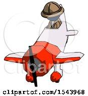 Blue Explorer Ranger Man In Geebee Stunt Plane Descending Front Angle View