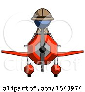 Blue Explorer Ranger Man In Geebee Stunt Plane Front View
