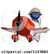 Blue Explorer Ranger Man Flying In Geebee Stunt Plane Viewed From Below