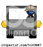 Blue Explorer Ranger Man Driving Amphibious Tracked Vehicle Front View