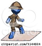 Blue Explorer Ranger Man On Postage Envelope Surfing
