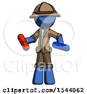 Blue Explorer Ranger Man Red Pill Or Blue Pill Concept