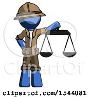 Blue Explorer Ranger Man Holding Scales Of Justice
