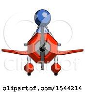 Blue Design Mascot Man In Geebee Stunt Plane Front View