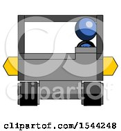 Blue Design Mascot Woman Driving Amphibious Tracked Vehicle Front View