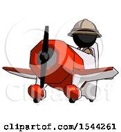 Black Explorer Ranger Man Flying In Geebee Stunt Plane Viewed From Below