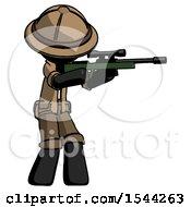 Black Explorer Ranger Man Shooting Sniper Rifle