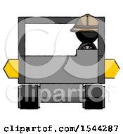 Black Explorer Ranger Man Driving Amphibious Tracked Vehicle Front View