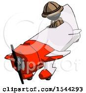 Black Explorer Ranger Man In Geebee Stunt Plane Descending View