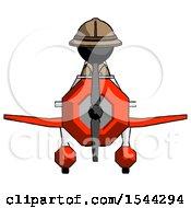 Black Explorer Ranger Man In Geebee Stunt Plane Front View