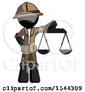 Black Explorer Ranger Man Holding Scales Of Justice