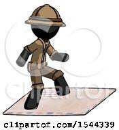 Black Explorer Ranger Man On Postage Envelope Surfing