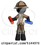 Black Explorer Ranger Man Red Pill Or Blue Pill Concept