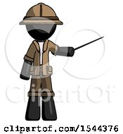 Black Explorer Ranger Man Teacher Or Conductor With Stick Or Baton Directing