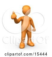 Orange Person Giving The Thumbs Up Clipart Illustration Image by 3poD #COLLC15444-0033