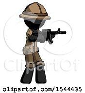 Black Explorer Ranger Man Shooting Automatic Assault Weapon