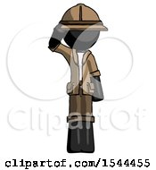 Black Explorer Ranger Man Soldier Salute Pose
