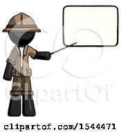 Black Explorer Ranger Man Giving Presentation In Front Of Dry Erase Board