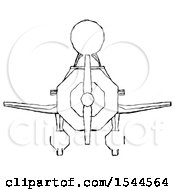 Sketch Design Mascot Man In Geebee Stunt Plane Front View