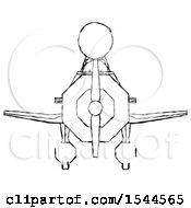 Sketch Design Mascot Woman In Geebee Stunt Plane Front View