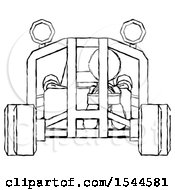 Sketch Design Mascot Woman Riding Sports Buggy Front View