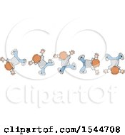 Clipart Of A White Boy Doing Flips Royalty Free Vector Illustration