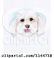 Clipart Of A Pencil Art Portrait Of A Happy Dog Royalty Free Illustration
