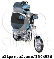 Clipart Of A 3d Business Gorilla Riding A Choppe Rmotorcycle On A White Background Royalty Free Illustration by Julos