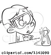 Poster, Art Print Of Black And White Boy Witnessing A Chemical Reaction In Science Class