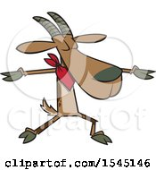 Clipart Of A Cartoon Goat Doing Yoga Royalty Free Vector Illustration