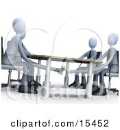 Businessman Paying Or Bribing Another Under The Table During A Business Meeting Clipart Illustration Image