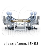 Businessman Paying Or Bribing Another Under The Table During A Business Meeting