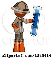 Orange Explorer Ranger Man Holding Large Test Tube