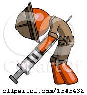 Orange Explorer Ranger Man Lethal Injection Impaled On Syringe